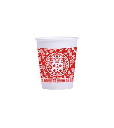 纸杯婚庆杯加厚 婚宴婚礼一次性大红杯子喜庆用品 红纸杯